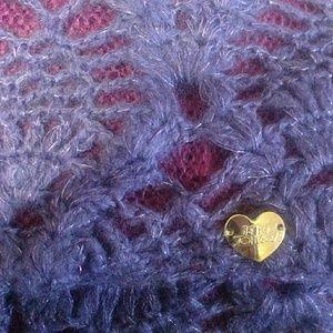 Purple Betsy Johnson infinity scarf